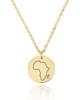 שרשרת דיסק מפת אפריקה