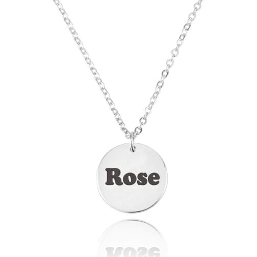 Coin Necklace With Engraving - Beleco Jewelry