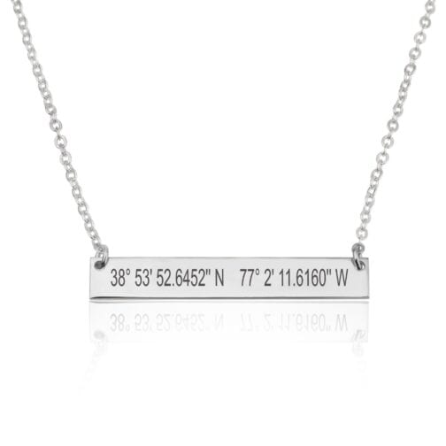 Coordinates Bar Necklace - Beleco Jewelry