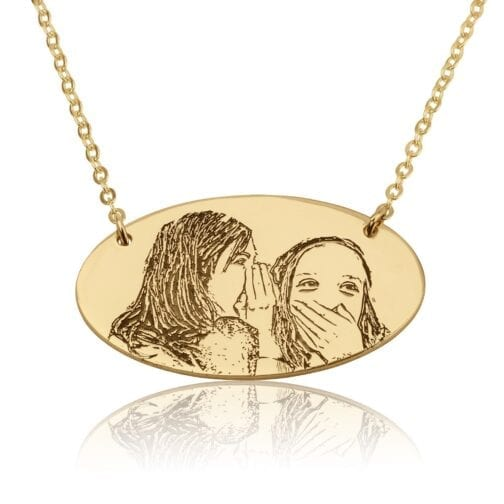 Custom Engraved Photo Necklace - Beleco Jewelry