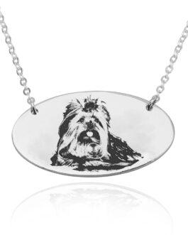 שרשרת עם חריטת תמונה אישית של כלב