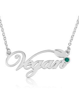שרשרת כיתוב Vegan / טבעוני