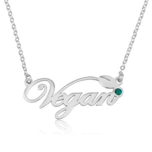 Custom Vegan Pride Necklace - Beleco Jewelry