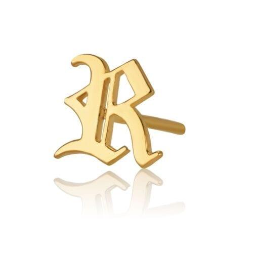 Initial Stud Earrings - Beleco Jewelry