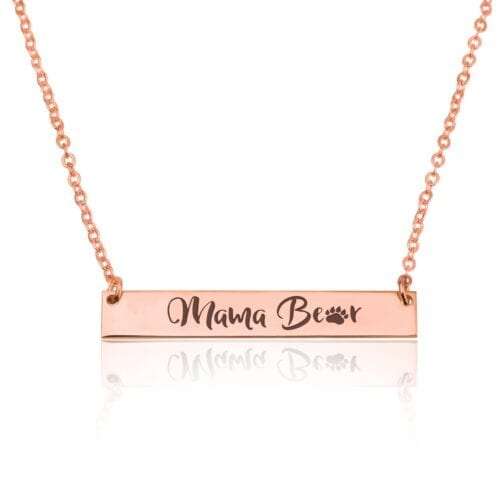 Momma Bear Necklace - Special Mother Gift - Beleco Jewelry