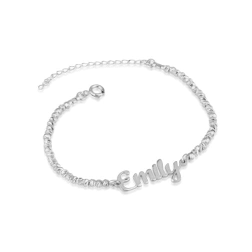 Name Bracelet With Laser Beads - Beleco Jewelry