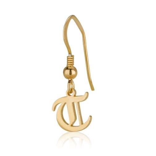 Old English Initial Earrings - Beleco Jewelry