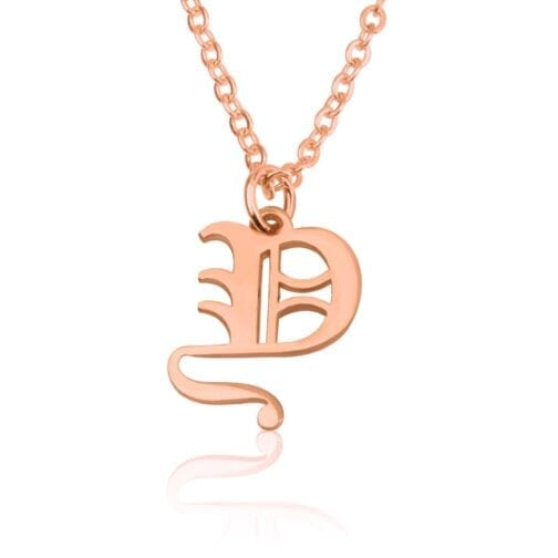 Old English Initial Necklace - Beleco Jewelry