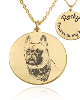 שרשרת חריטת תמונה בהתאמה אישית- מתנה לבעלי כלבים