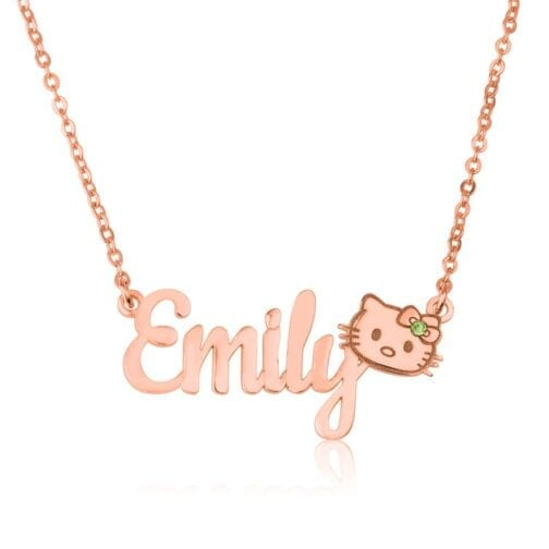Personalized Hello Kitty Name Necklace - Beleco Jewelry